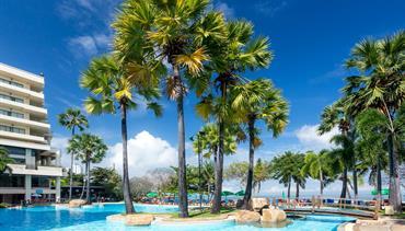Garden Sea View Resort, Pattaya - pláž Wong Prachan, Bangkok Palace Hotel, Bangkok