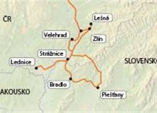 Morava-Slovácko ( a největší slovenské lázně-Piešťany)