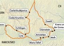 Wachau - údolí Dunaje (bez nočních přejezdů)