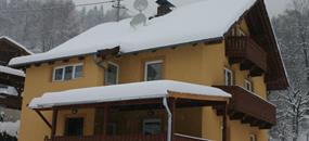 Flattach, zima, Haus Alpenblick-apartmány