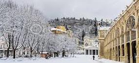 Zimní rodinná dovolená pro 4 osoby v hotelu Centrální lázně****