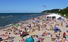 Baltské moře, Miedzyzdroje - penz. Polonia a Viktoria