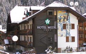 Hotel Medil s bazénem PIG- Campitello di Fassa