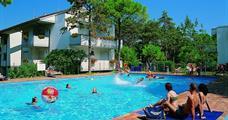 Parco Hemingway s bazénem IN– Lignano Pineta